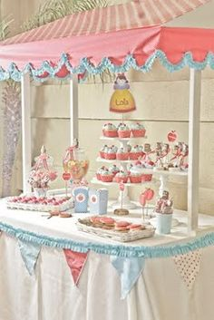 What a Darling Sweet Table. Cute for a Bridal Shower
