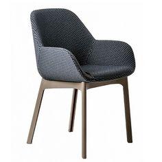 CLAP krzesło z podłokietnikami, tapicerowane
