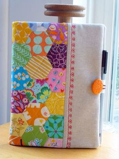 EPP hexie journal cover | by Just Jude Designs