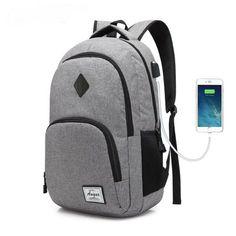 #Valentines #AdoreWe #RoseWholesale - #Rosewholesale AUGUR Men Women Backpacks USB Charging Male Casual Travel Teenager Student School Notebook Laptop Bag - AdoreWe.com