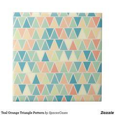 Teal Orange Triangle Pattern