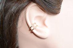 Simple Double Hoop Ear Cuff Choose Metal by StarDustEarCuffs