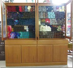 Kay Sorensen's studio 6 - Yarn storage