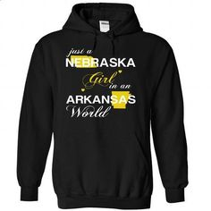(NEJustVang002) Just A Nebraska Girl In A Arkansas Worl - #womens sweatshirt #sweater blanket. ORDER NOW => https://www.sunfrog.com/Valentines/-28NEJustVang002-29-Just-A-Nebraska-Girl-In-A-Arkansas-World-Black-Hoodie.html?68278