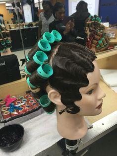 Finger wave and roller set  Cosmetology #empirebeautyschool