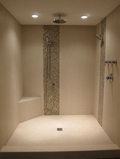 Our Master bathroom shower remodel (After photo). I LOVE our rainhead shower faucet. LOVE IT!