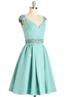 Shindig by the Skyline Dress in Aqua   Fit & Flare Mod Retro Vintage Dress {Modcloth}
