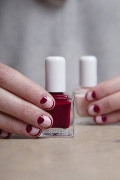 Such a romantic combo - tenoverten's soft Jane and sexy Orchard together in a moon and french look, make for a perfect Valentine manicure #Sephora #tenoverten #nailspotting
