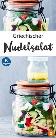 Griechischer Nudelsalat to go | 8 SmartPoints/Portion, Weight Watchers, fertig in 25 min.