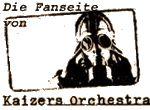 Logo of Kaizers Orchestra with gasmask, Titelbild der Ompa til du dør
