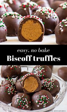 Biscoff truffles are an easy, no bake dessert that anyone can make. Rich chocolate surrounds a smooth, creamy, lightly spiced filling, making these homemade truffles decadent and totally irresistible. If you love cookie butter then this recipe is for you! Winter Recipes, Holiday Recipes, Homemade Truffles, Butter Spread, Kinds Of Cookies, Biscoff, Winter Food, Holiday Treats, No Bake Desserts