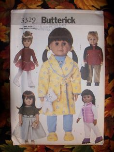 18 Inch Doll Clothes Pattern  Butterick by KingsLittleBlessings, $10.00