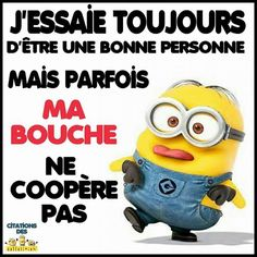 Les minions Wtf Funny, Funny Texts, Funny Jokes, Minion Talk, Funy Quotes, French Quotes, Minions Quotes, Positive Attitude, Good Mood