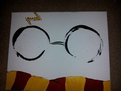 Harry Potter glasses and scarf painting in acrylic on canvas for my daughter.