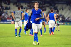 Federico Bernardeschi of Italy celebrates victory after the 2017 UEFA European Under-21 Championship Group C match between Italy and Germany at Stadion Cracovia on June 24, 2017 in Krakow, Poland.