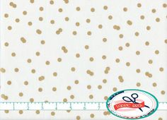 GOLD CONFETTI DOT FABRIC by the YARD, FAT QUARTER, OR HALF YARD - You Choose - GOLD CONFETTI DOT Print Fabric - Premium Quilting Fabric and Apparel Fabric, 100% Cotton Fabric! Woven Cotton Print Fabric 44-45 inches wide. More yardage usually available by using the drop down quantity selector during the checkout! ***FIRST select your length (fat quarter, half, or full yard) then select the quantity (multiple quantities purchased will be sent as 1 uncut length of fabric unless you request…