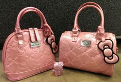 Swoon! Coming soon to Loungefly.com.... The Hello Kitty Mini Embossed Bag and the Pink Glitter Mini City Bag.