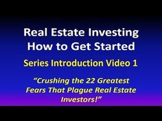 Real Estate Investing Now Is Dave Dinkel's Real Estate Investing Secret!  If you are starting to invest real estate get this FREE E Book Here  http://realestateinvestinghowtostart.com/investing-real-estate-crushing-22-fears/ If you are looking for any of the following topics they are in the ebook or free real estate course of 20 videos!  Subscribe To LearnREInvesting Youtube to make sure you have access to all the videos!