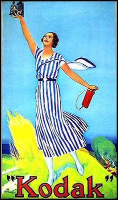 c. 1930s French Kodak Girl poster. From the collection of Ruud C. Hoff, Amsterdam, The Netherlands.