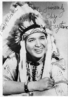 """Chief Halftown, a full Seneca native. Those of us growing up in Philly watched him on television. He taught us how to behave like good tribal members. """"ees da sa sussaway! (Seneca for """"Let's get started!"""")"""