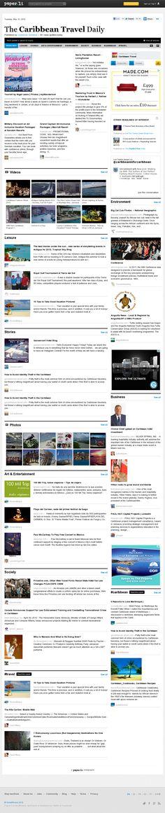 The Caribbean Travel Daily Vacation Deals, Caribbean, Tourism, Social Media, Island, Paper, Beach, Sunshine, Travel