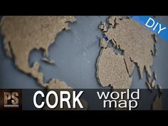 Build This Cork World Map and Mark Your Adventures