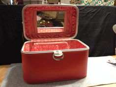 #Amelia #Earhart #train #case.  Like new!  This and 2 other pieces of Amelia Earhart luggage have their original boxes!