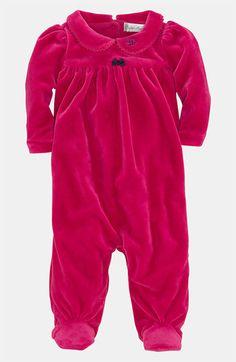 Ralph Lauren Velour Footie (Infant) available at #Nordstrom
