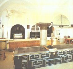 Inside Neuschwanstein Castle is this amazing kitchen.  This is about 1/3 of it!  Way ahead of its time.