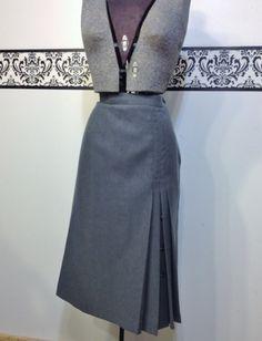 1960's Wool Pencil Skirt in Pencil Lead Grey by by RetrosaurusRex