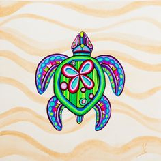 Items similar to Retro Art Print from SummerHour- Retro Turtle with Small Butterfly on Etsy Sea Turtle Art, Turtle Love, Small Turtles, Cute Turtles, Small Turtle Tattoo, Turtle Tattoos, Ocean Tattoos, Sea Turtle Pictures, Tribal Shoulder Tattoos
