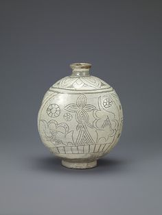 Flask-Shaped Bottle with Abstract Decoration Korean, Joseon dynasty; 15th century, Samsung Museum of Art, Seoul