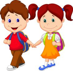 Cute Cartoon Boy And Girl Images Are Free To Copy. All Clipart Images Are On A Transparent Background