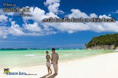 When in Boracay... I like to... walk hand in walk on white beach  #TheBoracayBeach #ItsMoreFuninthePhilippines