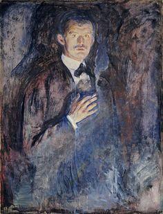 Edvard Munch - Self-Portrait with Cigarette, 1895