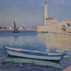 """Albert Marquet (1875-1947) """"Le Port de Sète"""", dét. (1936) musée Paul Dini, Villefranche-sur-Saône (Rhône, France) (by Denis Trente-Huittessan)"""