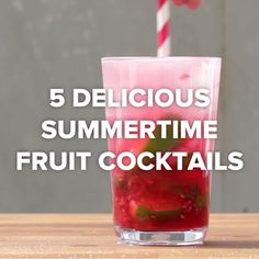 Get Your Drank On This Summer With These 5 Delicious Fruity Cocktails Tasty Fruity Cocktails, Fruit Drinks, Summer Cocktails, Refreshing Drinks, Healthy Drinks, Detox Drinks, Tequila Mixed Drinks, Virgin Cocktails, Mixed Drinks Alcohol