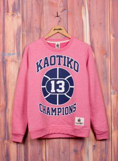 Kaotiko BCN – Moda mujer - SUDADERA CHAMPIONS ROSA/MARINO