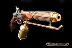 Beautiful prop weaponry for your Steampunk Costume. Due to shipping restrictions, available to European customers only. Steampunk Flame Thrower pistol /gun by ArcaneArmoury on Etsy