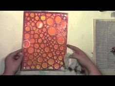 A Colorful Gelli Print Party July with Carolyn Dube using a Gelli Plate and a StencilGirl Stencil You can do a messy layer of gesso, a neat and tidy and smooth layer of gesso, or something in between but you need a layer of gesso.  The gesso layer is very very very, did I mention very, important for this technique!  I used a heavy watercolor paper because that is what was around.  I love the extra texture it added. I used a Catalyst blade (size 30 #6) to spread on the gesso.