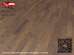 2-Schicht Fertigparkett Nussbaum select geölt - Einzelstab Format: 490 x 70 x 11 mm Hardwood Floors, Flooring, Crafts, Home, Plank Flooring, Cottage Chic, Wood Floor Tiles, Wood Flooring, Manualidades