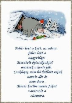 Zúzmara Homemade Christmas Decorations, Winter Is Coming, Games For Kids, Happy New Year, Winnie The Pooh, Advent, Diy And Crafts, Poems, Xmas