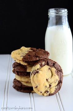 Brookies: Brownies plus chocolate chip cookies. All rolled together in one spectacular treat that will make your mouth happy. Cookies are a yummy treat. Brownies are a yummy treat. Put them together into one treat and you just might explode. Just kidding. Do I have your attention now? Seriously, these cookies tasteA-mazing! Plus they look …