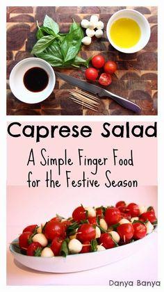 Caprese salad on toothpicks