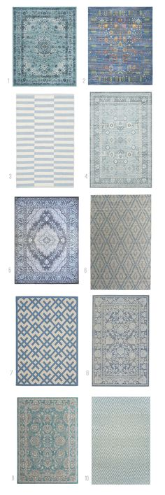 Blue Patterned Rug Round Up - The Inspired Room