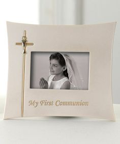 Another great find on #zulily! Silver 'My First Communion' Landscape Frame #zulilyfinds