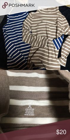 Lands' End tunic turtlenecks Hey here are two great tunic wide neck turtle necks from Lands' End. These are in great used condition. Lands' End Tops Tunics