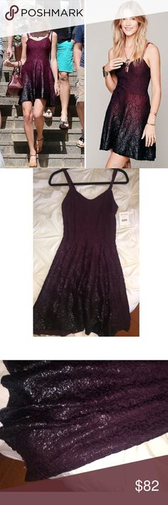 NWT Free People Ombre Foil Dress in Blackberry brand NEW! NWT Free People Ombre Foil Dress in Blackberry - As seen on Taylor Swift! Great for the holidays :) - Make offers, Price is negotiable. Free People Dresses