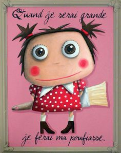 Girl with paintbrush Take A Smile, Im A Princess, Never Grow Up, Sweet Words, Photo Illustration, Funny Cute, Cool Words, Illustrations Posters, Girly