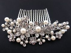 Bridal Hair comb...... Great Price!  new fashion beautiful Silver Color bridal wedding hair comb pearl and crystal #5 by beautyxyz, http://www.amazon.com/dp/B00D2CJCTS/ref=cm_sw_r_pi_dp_7ykksb0QPEWAV